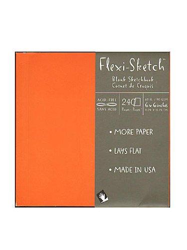 Global Art Flexi-Sketch Sketchbooks mandarin 6 in. x 6 in. square [PACK OF 3 ]