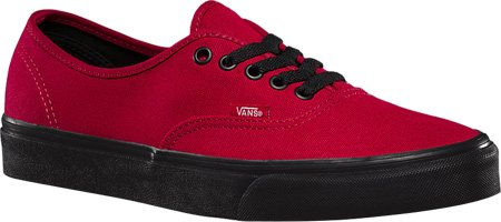 jester Red Vans Black Sole Authentic vUYgqt