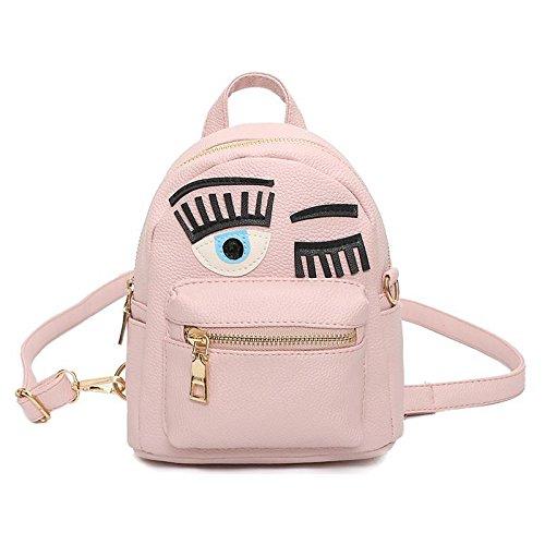 TSLX-Doppel Schulter Handtasche, neuen Mini Bolso Lady, Schwarz Pink