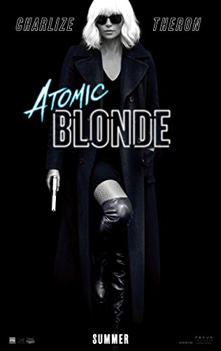 Atomic Blonde Movie Poster 2 Sided Original Advance Charlize Theron Sofia Boutella