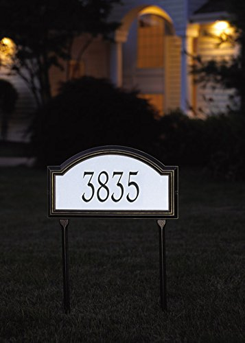Custom Providence Arch REFLECTIVE LAWN Plaque 17''W x 10''H (1 Line)