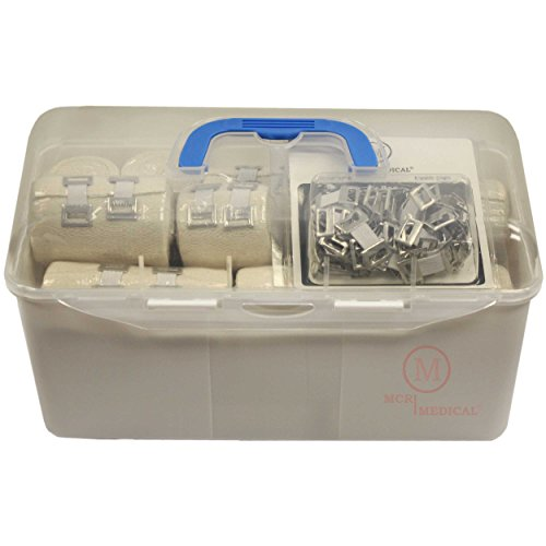 Ace First Aid Kit (Combo Pack of Elastic Bandages with Spare Clips, MCR)