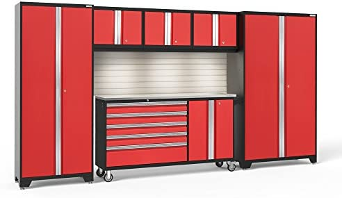 NewAge Products 56262 Bold 3.0 Red 6 PC Garage Storage Cabinets, Red