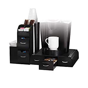 Mind Reader Combine 2 Piece Coffee Station, 20 x 14 x 12, Black