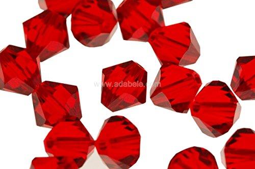 50 10mm Adabele Austrian Bicone Faceted Crystal Beads Siam Alternative For Swarovski Preciosa Crystalized 5301/5328 #ssb1005 (Bead Swarovski 10mm Bicone)