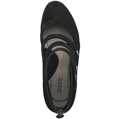 Sandalo Gladiatore Nero Con Zeppa In Pelle Pieno Fiore Nero