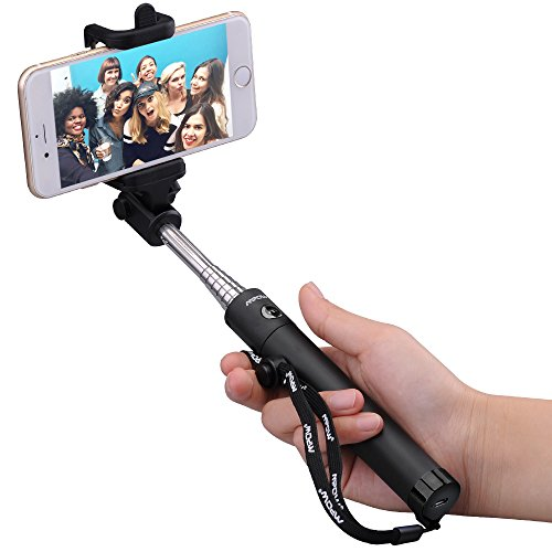 New Generation Selfie Stick Mpow iSnap X One-piece U-Shape Self-portrait Monopod Extendable Selfie Stick with built-in Bluetooth Remote Shutter for iPhone 6 iPhone 5S Samsung Galaxy S6 S5 Android -Black