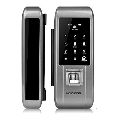 Digtial Glass Door Lock Fingerprint Password Code Pin Remote APP Control Electronic Glass Door ()