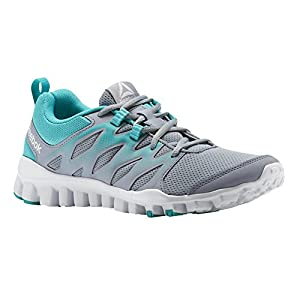 Reebok Women's Realflex Train 4.0 Cross Trainer, Cool Shadow/Solid Teal/White, 8 M US