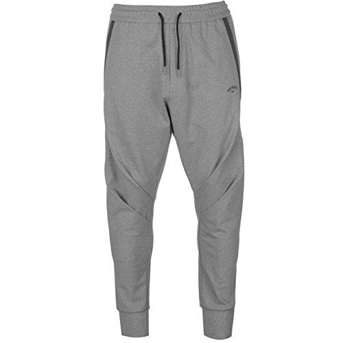 Pants Jersey Everlast - Everlast Mens Drape Jogging Bottoms Jersey Trousers Pants Zip Drawstring Grey Marl Small