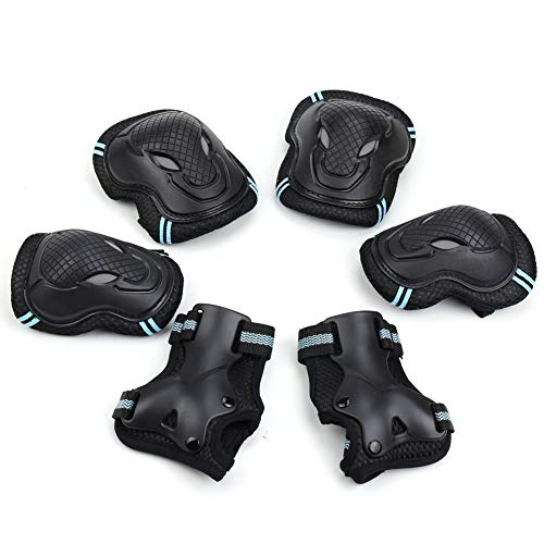 Carperipher Knee Pad Set for Kids Elbow Pads with Wrist Guards 6 in 1 Protective Gear Set for 3-8 Years Old Boys, Girls Bike Cycling, Inline Skating, Rollerblading, Skateboarding, Scooter Riding