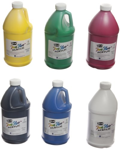 Sax True Flow Medium-Bodied Acrylic Paint - 1/2 Gallon - Set
