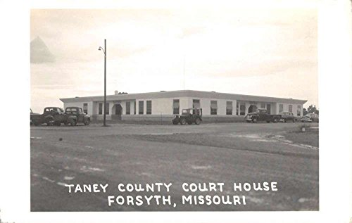 Forsyth Missouri Taney Court House Real Photo Antique Postcard K69016
