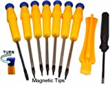(9 Items Combo) Tool Repair Kit Precision Screw Driver Set Torx + Flat Head + Safe Plying Prying Pry Tool for Motorola