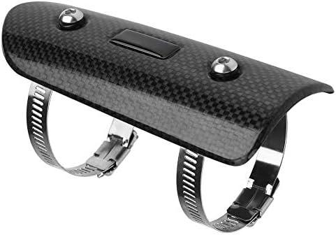 KIMISS Moto D/échappement Pot Muffer Moyen Universel Fiber De Carbone Bouclier Thermique Protecteur Talon Garde