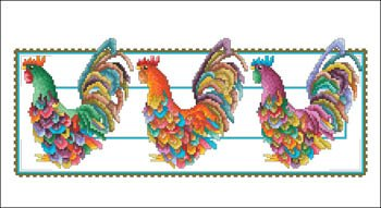 - Rooster Row Cross Stitch Chart and Free Embellishment