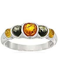 Multicolor Sterling Silver Simple Ring