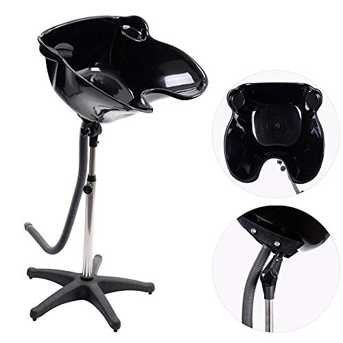 Aromzen Portable Backwash Unit Shampoo Hair Bowl Basin Sink Beauty Salon Equipment Black from Aromzen