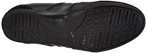 Geox U HOUSTON - zapatilla deportiva de cuero hombre negro - negro