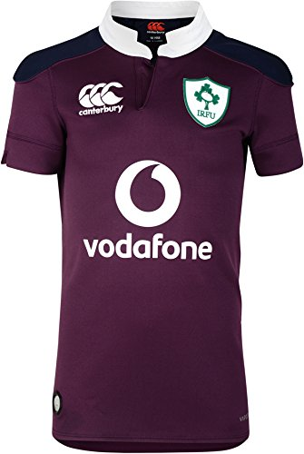 - Canterbury Ireland Rugby 2016/17 Vapodri Alternate Pro Jersey - Youth - Irish Plum - Age 6
