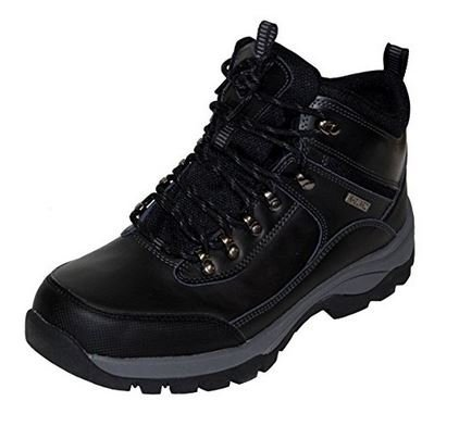 Khombu Summit Men's Leather Hiking Outdoor Tactical Black Boots - Size 9