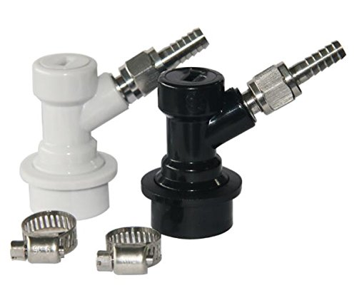 PERA Ball Lock MFL Quick Disconnects Set with Swivel Nuts (2) 5/16 Gas, 1/4 Liquid and clamp ()