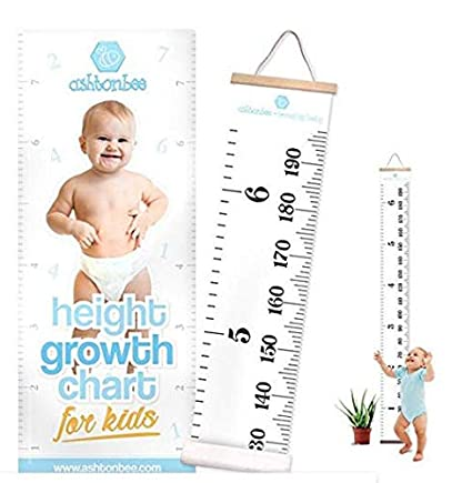 Amazon Khlz Us Height Growth Chart For Kids Portable Foldable