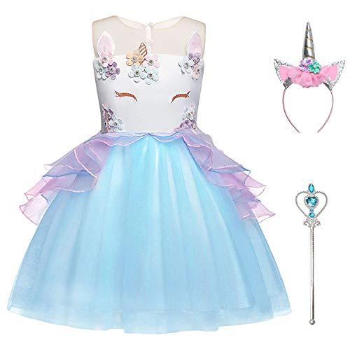 Little Girls Unicorn Tutu Dresses Flower Pageant Princess Party Cosplay Costume ()