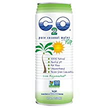 C2O Pure Coconut Water with Pulp, 17.5 Ounce (Pack of 12)