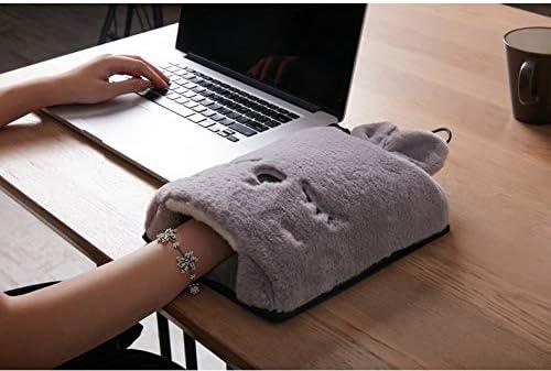 Detachable Cartoon Mouse Pad-Brown YLHLZZ Warm Heating Mouse Pad Safe USB Heating,Heating Mouse Pad Cartoon Shaped Hand Warmer
