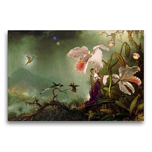 Premium Textil de lienzo 45cm x 30cm marfil Horizontal Secreto, 75x50 cm por Yvonne Pfeifer