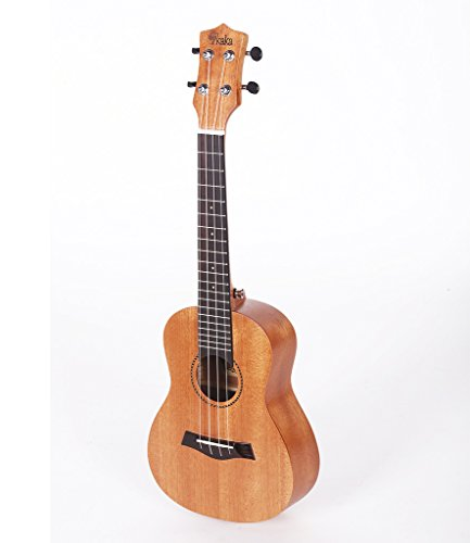 Kaka Tenor Ukulele KUT-25D Solid Mahogany Top with Gig Bag, Spare Aquila (Mahogany Top)