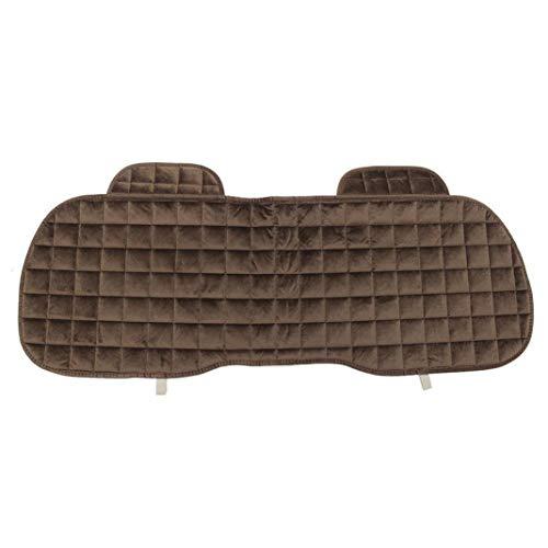 (YUSHHO56T Car Rear Seat Cushion CarSeatsAccessoires Seat Cushion Universal Auto Car Rear Seat Cover Mat Soft Comfortable Back Row Chair Cushion - Coffee)