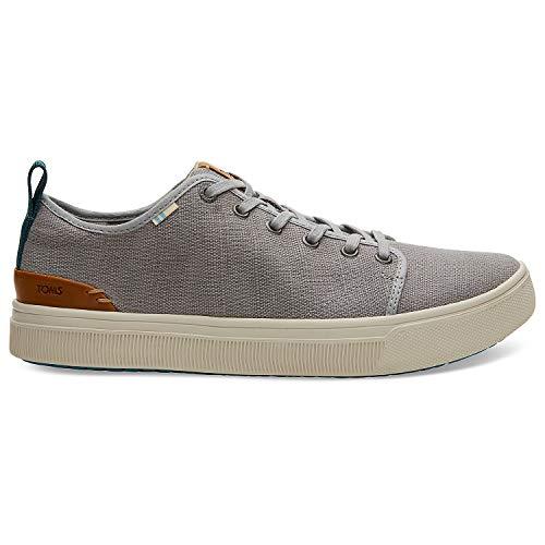 TOMS Mens TRVL LITE Low Athletic & Sneakers Khaki (10 M US, Drizzle Grey Heritage Canvas)