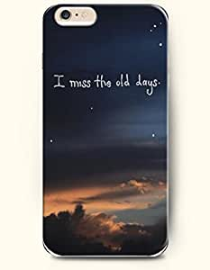 Generic Hard Case with the Design of I miss the old days for iPhone 6 (4.7)
