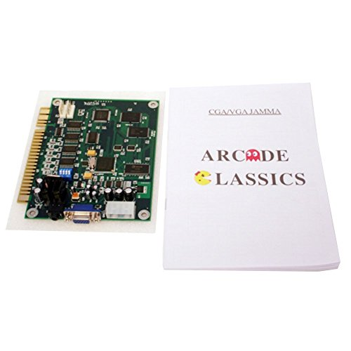 Easyget Classical Arcade Video Game 60 in 1 Pcb Jamma Board CGA/VGA Output - One Token