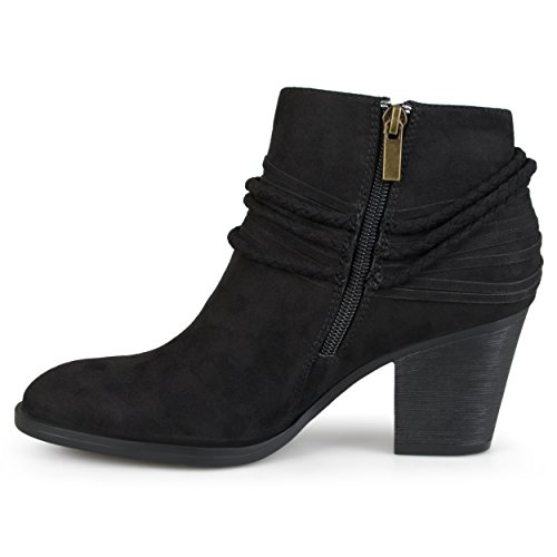 Collezione Journee Da Donna Con Tacco Alto E Cinturino Alla Caviglia Con Tacco Grosso Nero