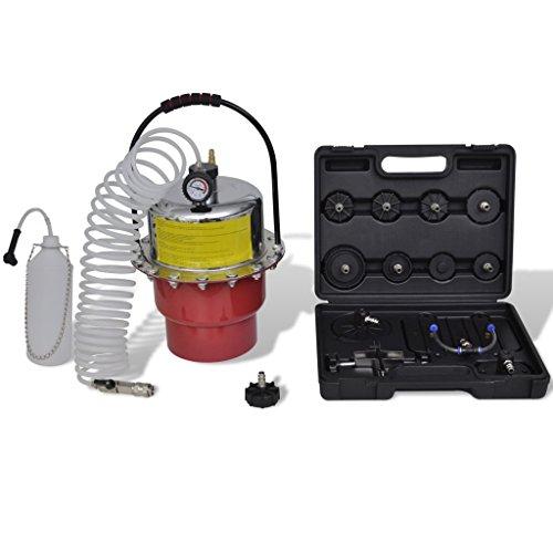 Festnight Pneumatic Air Pressure Bleeder Tool Set Brake Bleeding Garage Workshop Mechanics