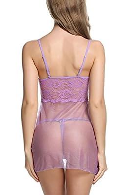 Avidlove Women Babydoll Lingerie Sleepwear Lace Chemises Outfit