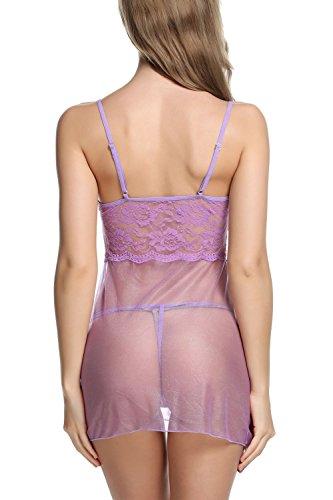 Avidlove-Women-Babydoll-Sexy-Lingerie-Transparent-Sleepwear-Lace-Chemises-Outfit