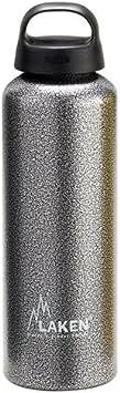 Laken Botella de Agua de Aluminio Classic con Tapón de Rosca y Boca Ancha 1L Gris