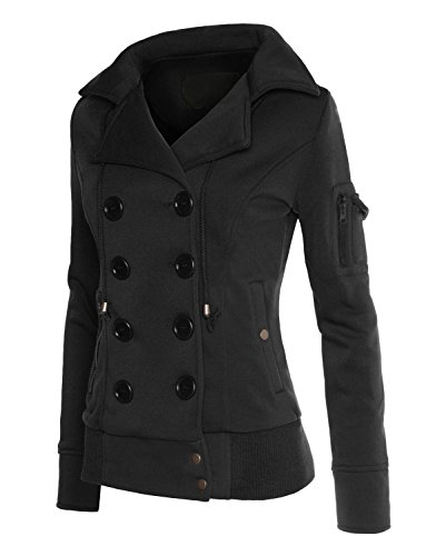 RubyK-Womens-Plus-Size-Classic-Pea-Coat-Jacket-with-Hood