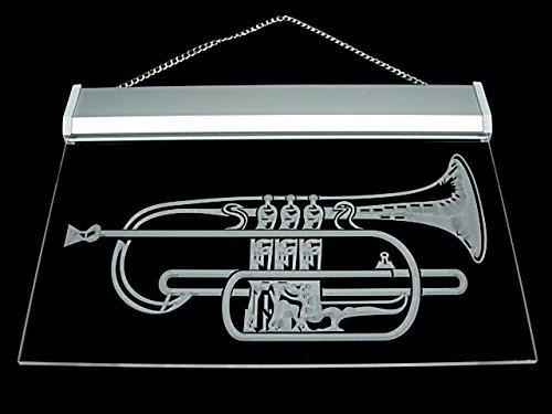 Horn Music Lesson School Led Light Sign