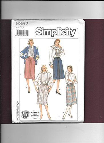 Gathered Waistband - Sew Simplicity 9352 Misses Button Waistband Slightly Gathered or Soft-pleated or Front Inverted Pleat Yoked-side Pocket Opening Skirts Sewing Pattern