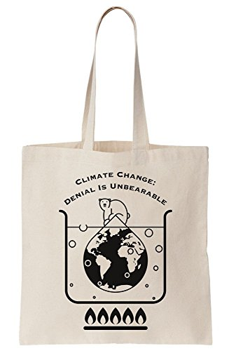 Climate Change Denial Is Unbearable Canvas Tote Bag