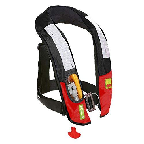 Vest Offshore Life - Eyson Slim Inflatable PFD Life Jacket Life Vest Adult Automatic/Manual (ES639717 Black)