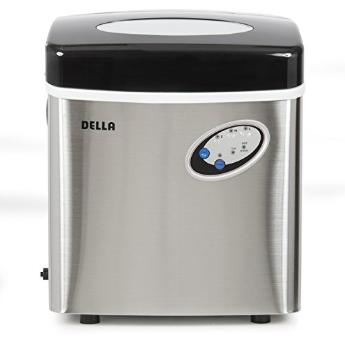 Della Stainless Steel Ice Maker Portable Countertop...
