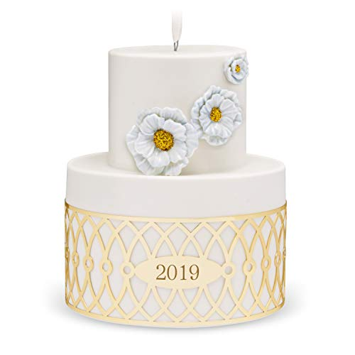 Hallmark Keepsake Christmas Ornament 2019 Year Dated Wedding Cake