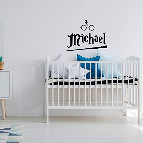 Emeas Vinyl Wall Sticker Mural Bible Letter Quotes Harry Potter Personalized Name Boys Name Sticker Harry Potter Themed Hogwarts Gifts for Boys -