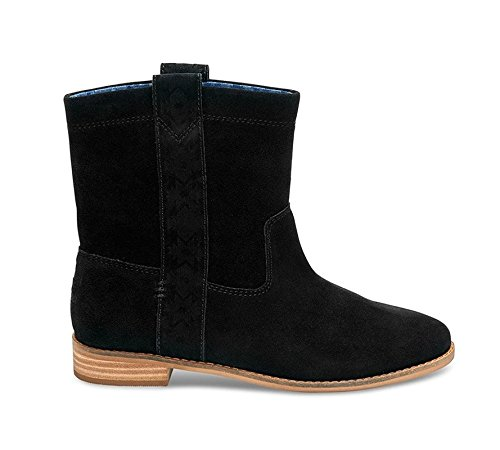 TOMS Women Laurel Burnished Suede Black Suede Boot, 8.5 B(M) US (Women Toms Boots For)